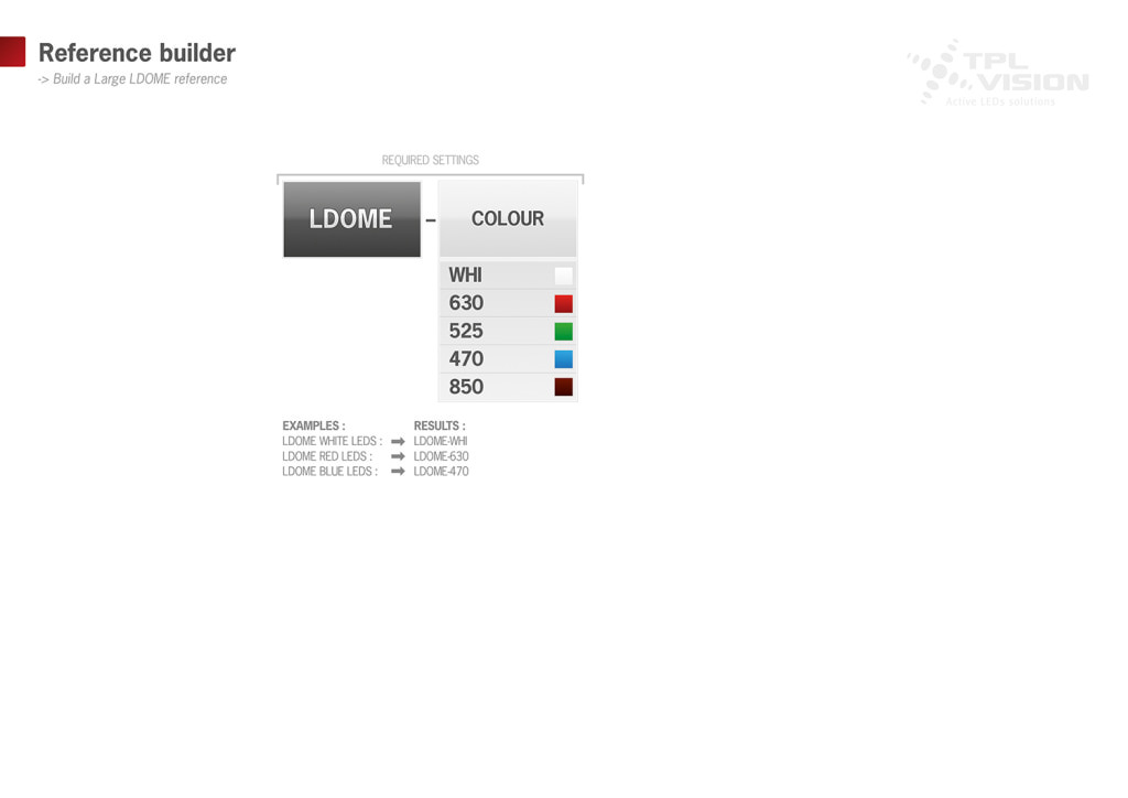 reference builder for Large LDOME, recommended for cameras equipped with large lenses